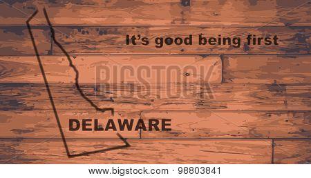 Delaware Map Brand