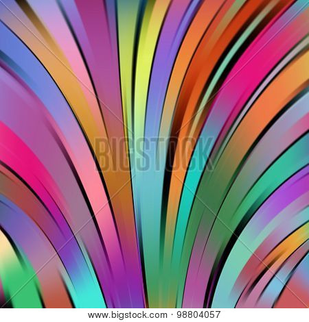 Colorful Smooth Light Rainbow-colored Lines Background