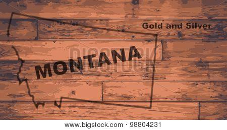 Montana Map Brand