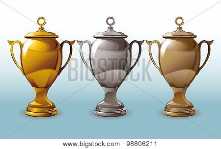 Three shining Cup