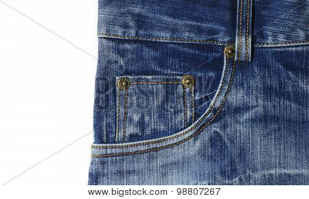 Closeup Shot Of Jeans Pocket
