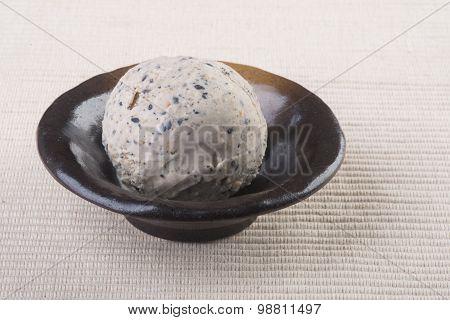 Ice Cream. Ice Cream Scoop On A Background