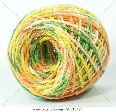 colorful hemp rope roll
