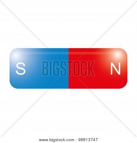 Magnetic isolated on white  vector