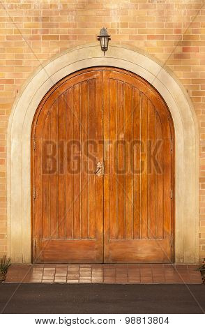 Front Doors Arched Detail