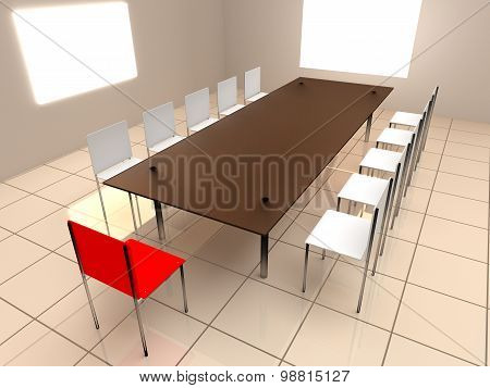 Chairs And Table In Office