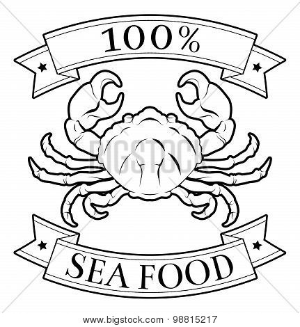 Sea Food 100 Percent Label