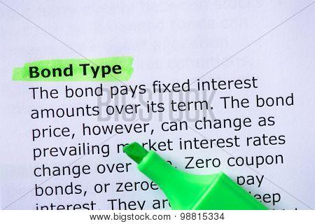 Bond Type