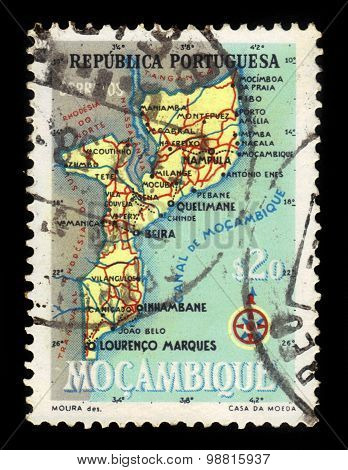 Map Of Mocambique