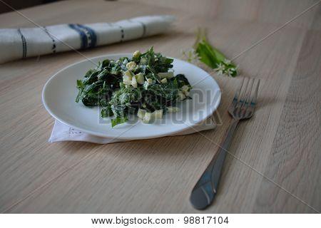 Ukrainian Salad With Wild Leek