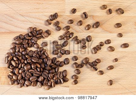 Placer coffee beans