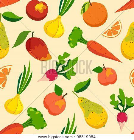 Vegetables & fruit pattern backgrounds