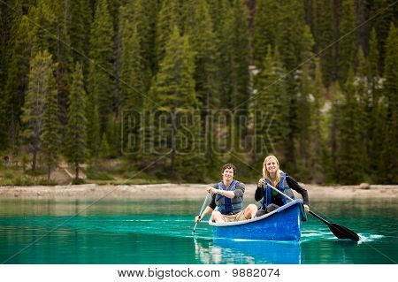 Couple Portrait In Canoe