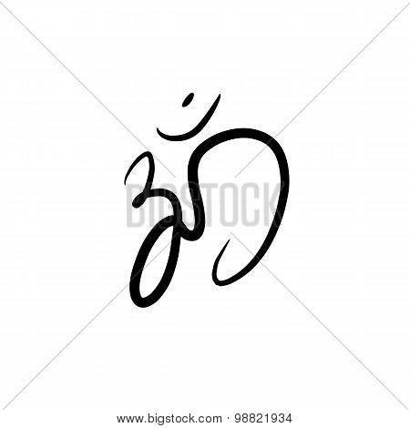 Hindu Om Icon of buddism  in Tamil