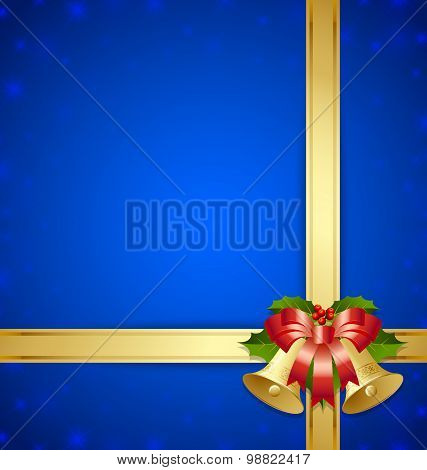 Ribbon And Bells Template