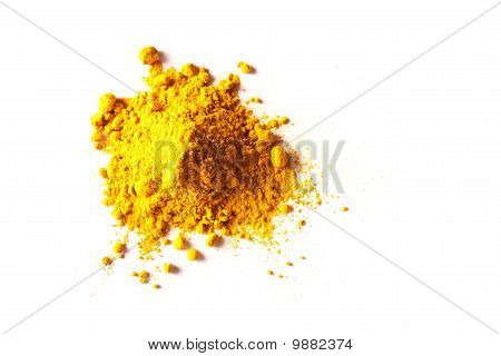 Pile of Turmeric Powder