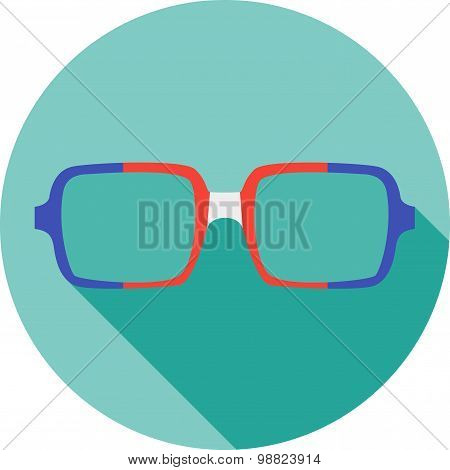 Super hero mask glasses collection. Flat style avatar icon