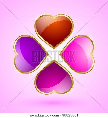 Glossy Hearts