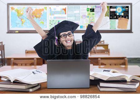Successful Graduate Student In The Class