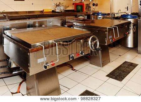 Typical kitchen of a big food processing plant