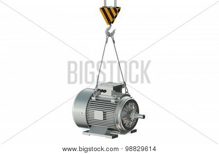 Crane Hook With Electric Motor