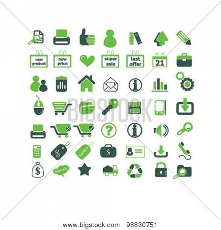 shop, store, administration, retail icons, signs, illustrations