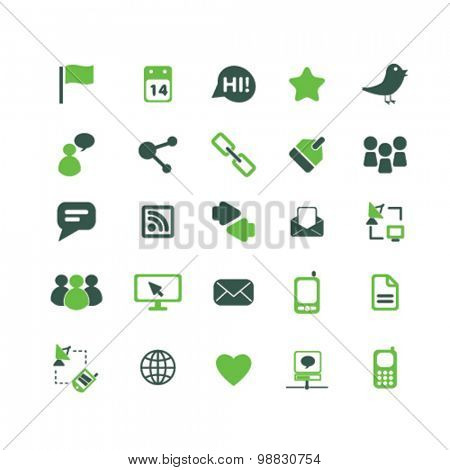 community, social media, blog icons, signs, illustrations