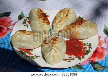 Fried steamer buns
