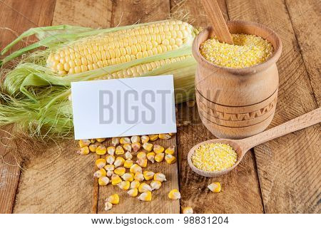 Photo Of Business Cards With Corn