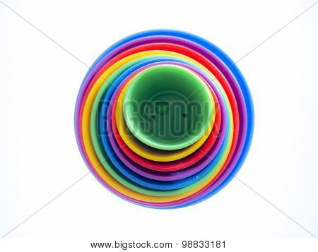 A cheerful background of colorful circles