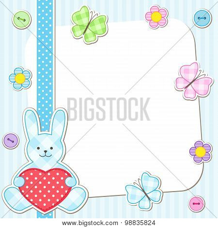 Blue rabbits cards