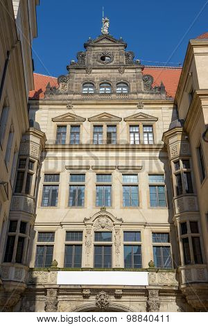 George Gate Building In End Of Schloss Street, Dresden, Germany.