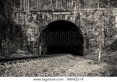 Ellicott City, MD - MARCH 2 2013 - Patapsco Valley State Park - Union Dam Tunnel
