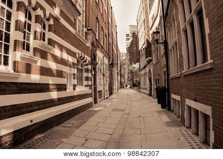 Shadows And Light, Stripes And Brick Architecture