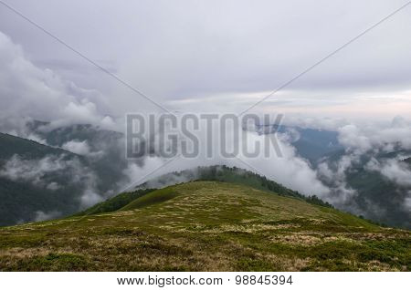 Heavy Fog In The Mountains