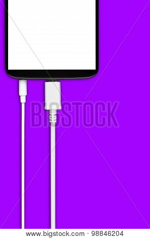 Smartphone With Cable And Micro Usb 3.5 Jack