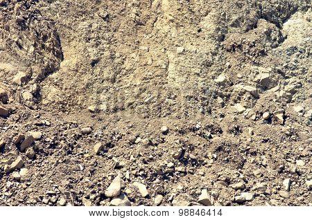Dry brown soil