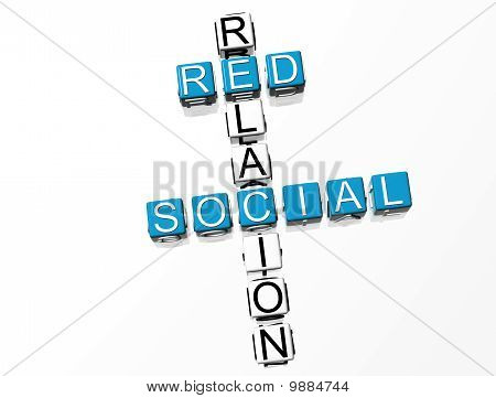 Red Social Crossword