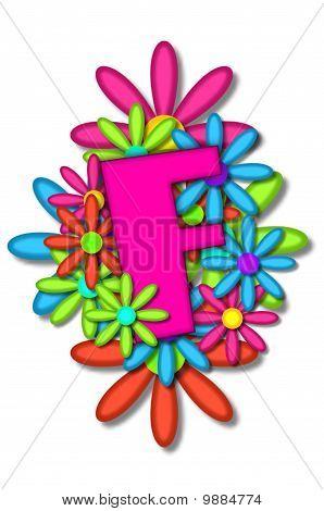 Alphabet Flower Cushion F