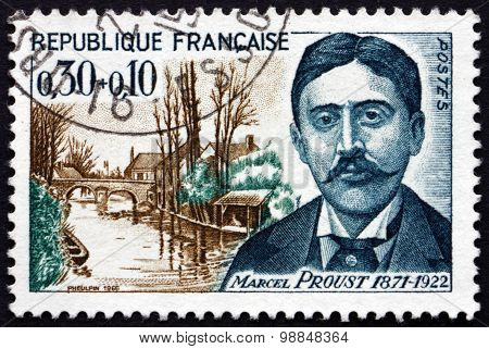 Postage Stamp France 1966 Marcel Proust, French Novelist