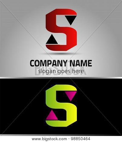 Letter S logo vector alphabet shape. S concept type as logo