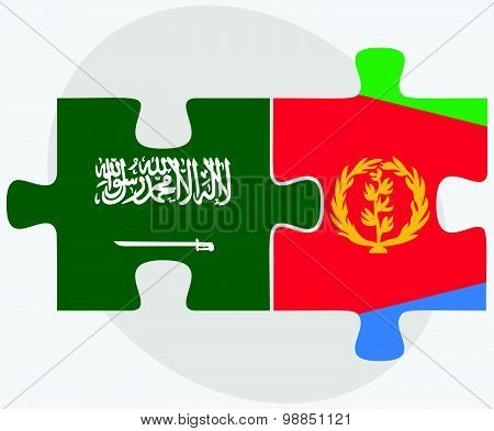 Saudi Arabia And Eritrea Flags