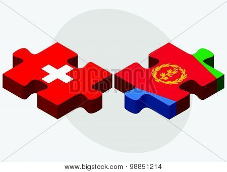 Switzerland And Eritrea Flags