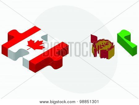 Canada And Eritrea Flags
