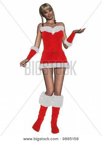 Sexy girl with christmas dress