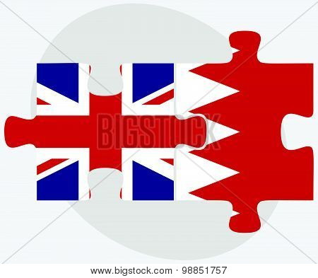 United Kingdom And Bahrain Flags