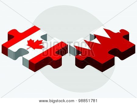 Canada And Bahrain Flags