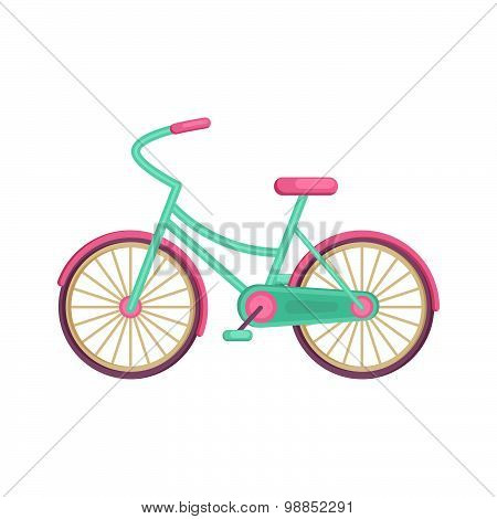 Colorful Flat Elegant Bicycle