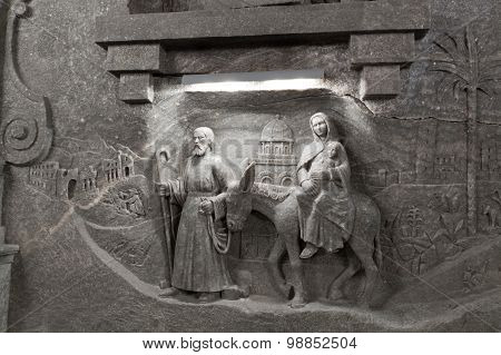 The Scene From The Bible Which Is Cut Out From Salt.
