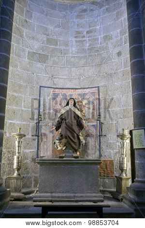 Inside View Of The Cathedral In Avila, Chapel Of Santa Teresa (old Chapel Of San Blas). Avila, Spain
